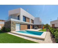 Недвижимость в Испании, Новые виллы с видами на море от застройщика в Бенидорм,Коста Бланка,Испания