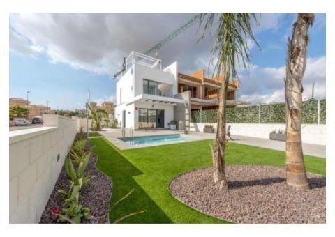 Недвижимость в Испании, Новые таухаусы рядом с гольф полем от застройщика в Вильямартин,Коста Бланка